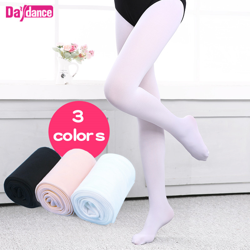 90D Professional Girls Ballet Tights Microfiber Velvet White Black Pink Dance Pantyhose With Gusset