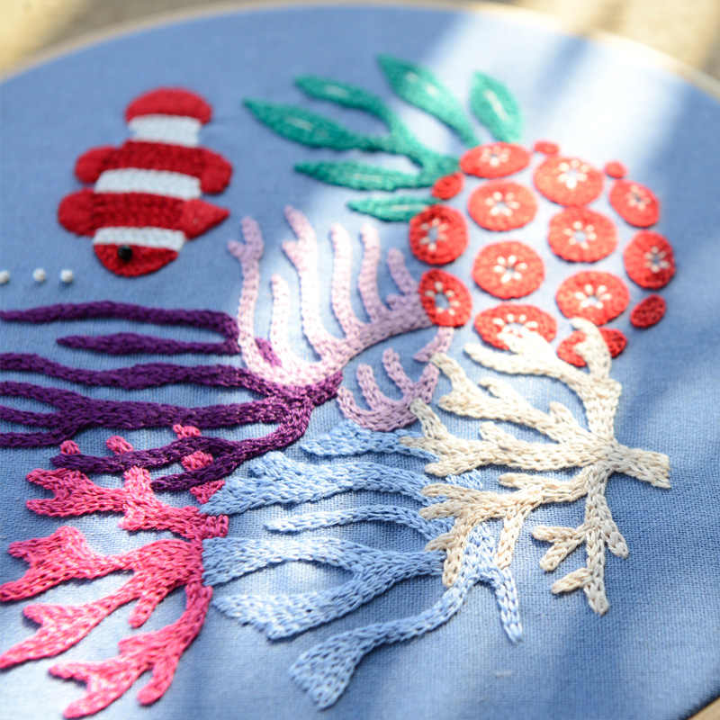 Новый DIY мультфильм вышивка наборы, рукоделие вышивка крестиком наборы для ухода за кожей с 20 см рамки начинающих хлопок колебание нити