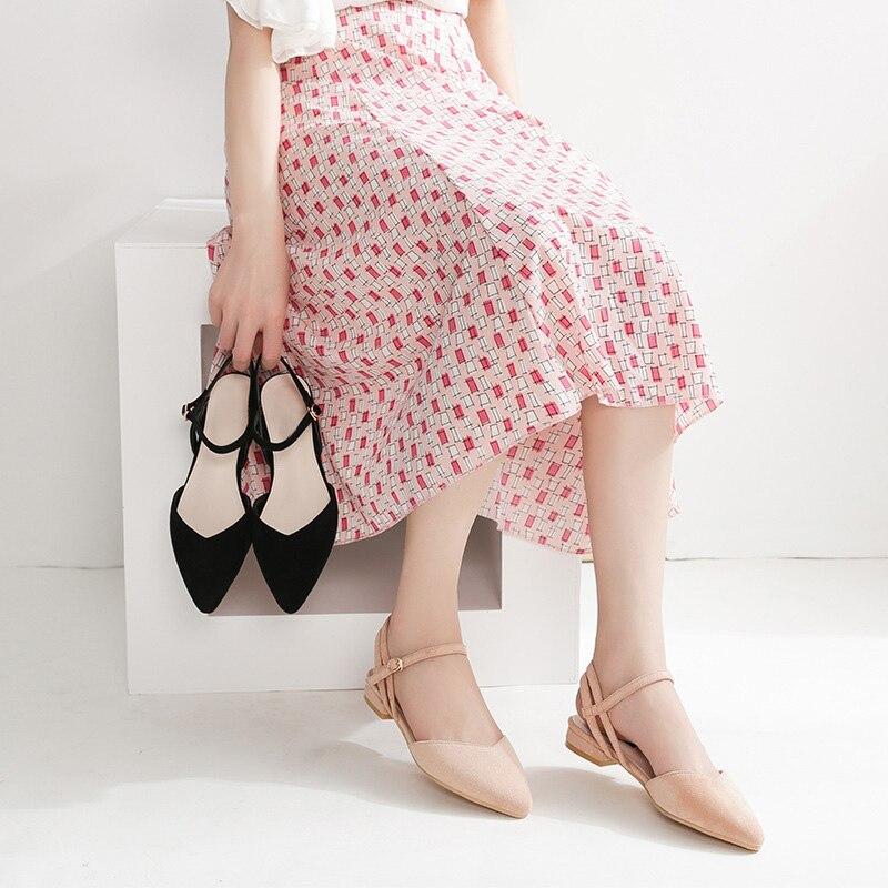 Schuhe 2019 Sommer Frauen Schuhe Flach Spitz Frauen Sandalen Süße Damen Schuhe Plus Größe A838 Online Rabatt