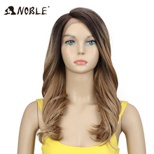 hot deal buy noble wig for black women trendy lace front wig loose wave synthetic hair 20inch mixed ombre hair choice synthetic wig