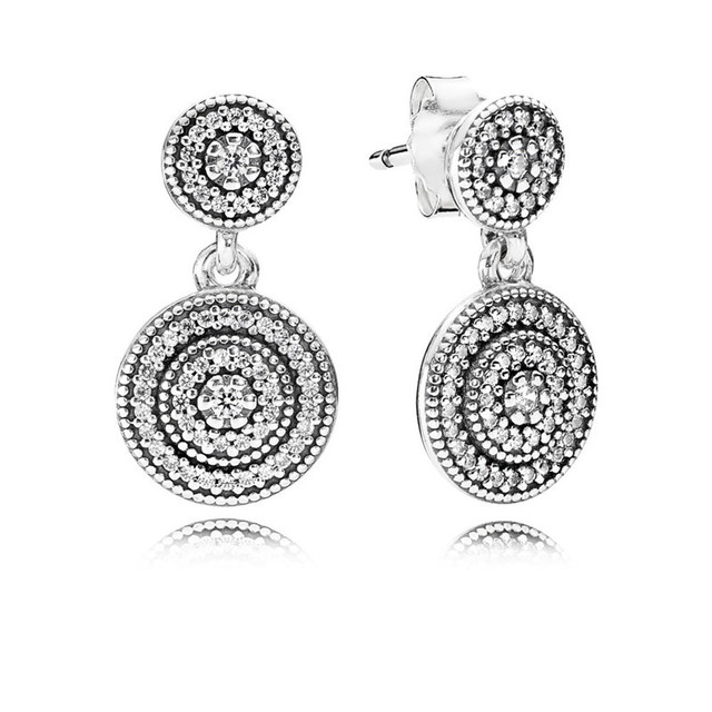 Trendy Authentic 925 Sterling Silver Pandora Earrings For Women Radiant  Elegance Hanging Earring Fine Europe Jewelry Lady Gift