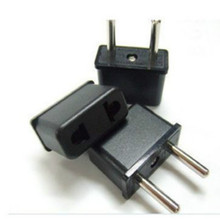 2 PCS US to EU AC Power Plug Travel Converter Adapter