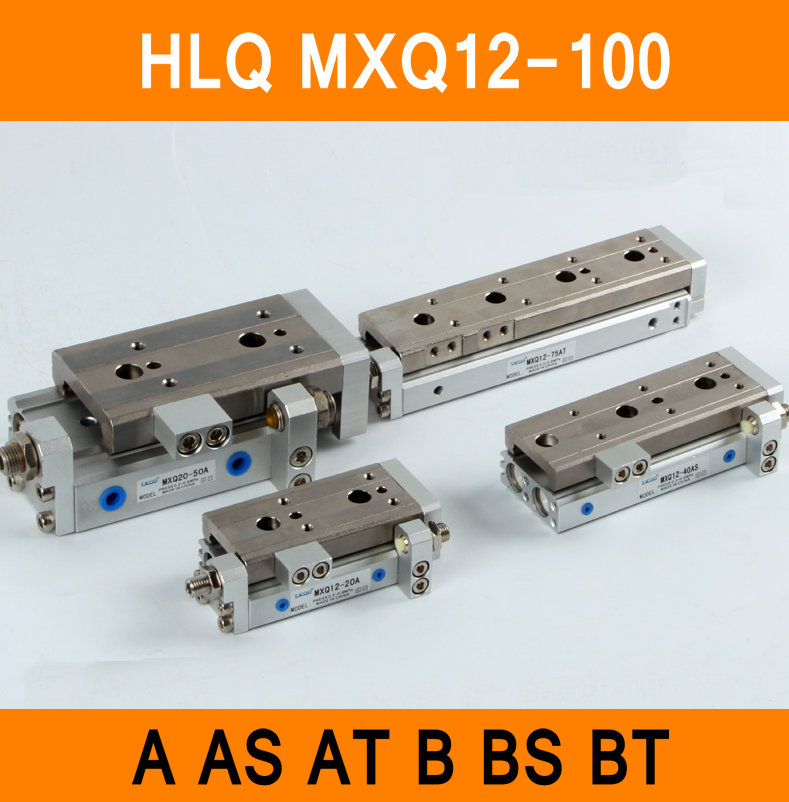 HLQ MXQ12-100 SMC Type MXQ Pneumatic Cylinder MXQ12-100A 100AS 100AT 100B Air Slide Table Double Acting 12mm Bore 100mm Stroke hlq mxq12 50 smc type mxq series pneumatic cylinder mxq12 50a 50as 50at 50b air slide table double acting 12mm bore 50mm stroke