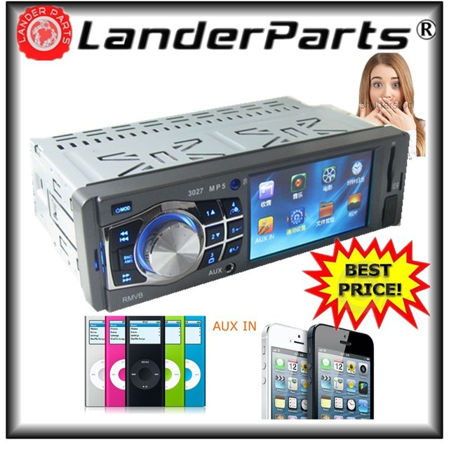 2015 new 3.6'' inch TFT HD,Car mp4 player,1 din,USB/SD Card/Remote Control Support,Car Radio,autopart mp5,aux in auto mp3 player