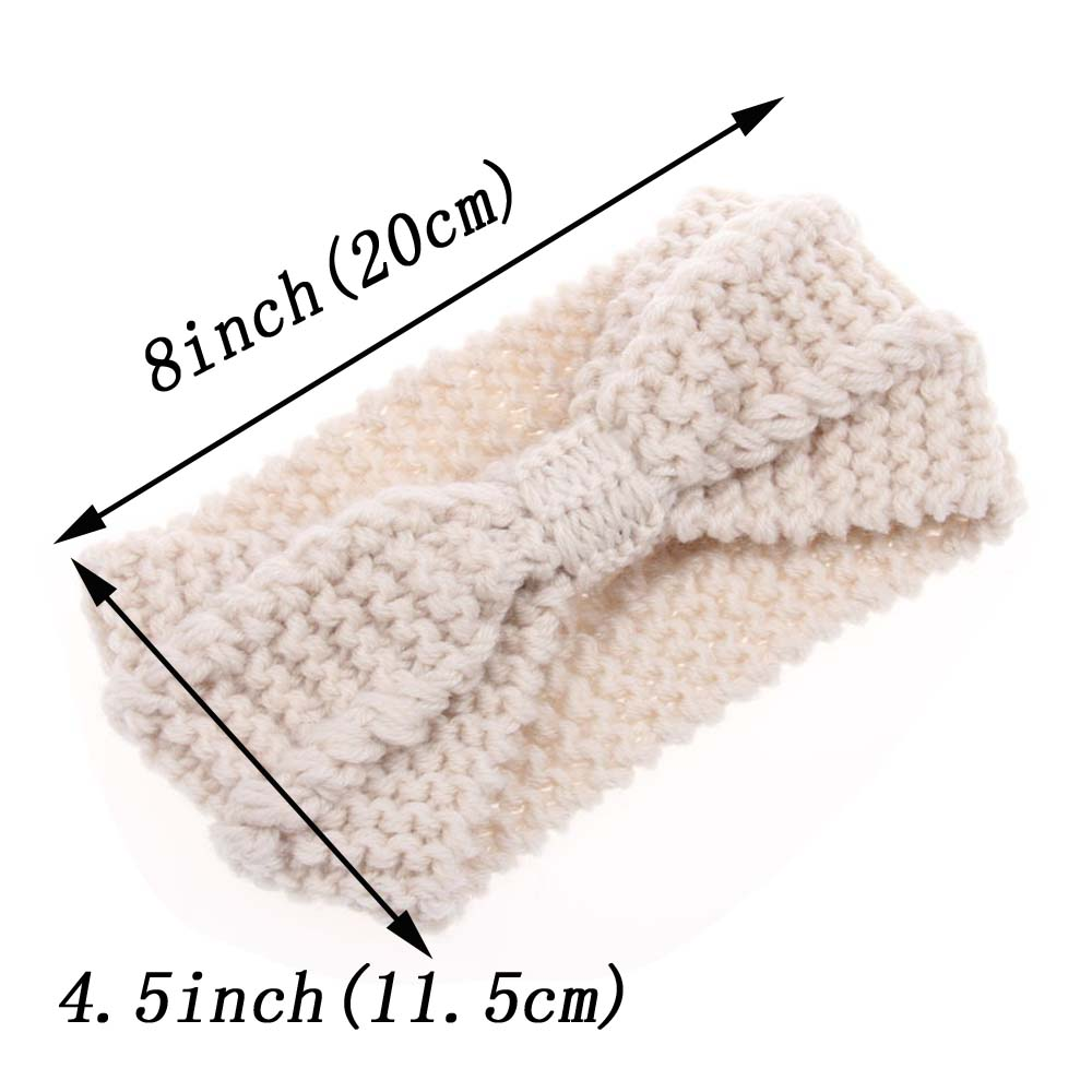 079b20aee12e Γυναίκες   s αξεσουάρ για τα μαλλιά Winter Warmer Ear Knitted Headband  Turban For Lady Women Crochet Bow Wide Stretch Hairband Headwrap Hair  Accessories