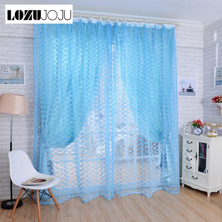 Lozujoju rustic blue purple rose pastel yellow tulle floor - Blue and purple bedroom curtains ...