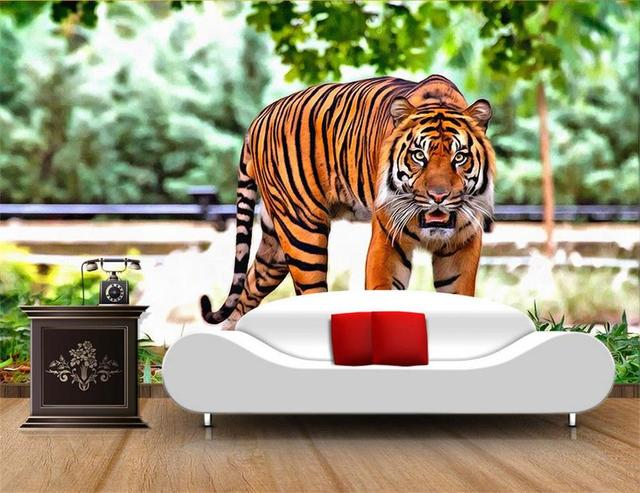 3d Wallpaper Custom Photo Hd Mural Wild China Tiger Tv Sofa Bedroom