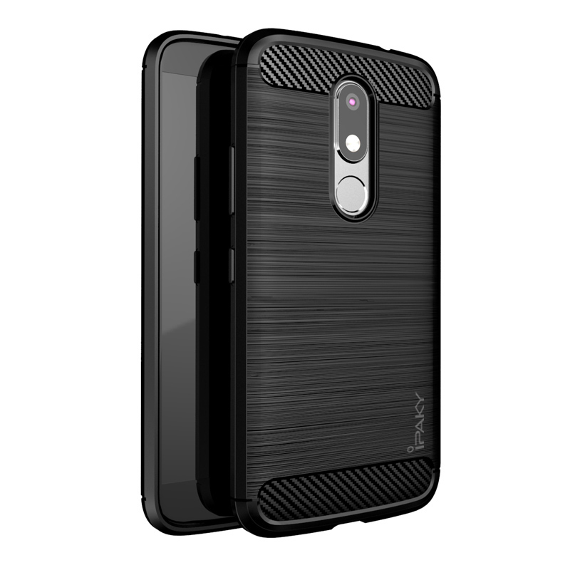 san francisco 50f71 f0e10 US $4.99 |Shock Absorption Carbon Fiber Original IPAKY Mobile Phone Case  For Moto M Motorola XT1663 Cellphone Armor Brushed Case Cover on ...
