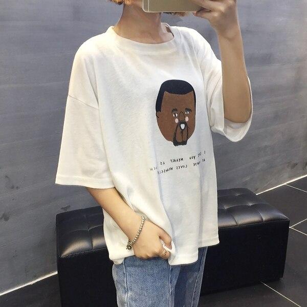 2016 Sommer Neue Mode Einfachen Gedruckt Kausalen Kurzhülse Weibliches T-shirt