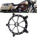 Preto Profundo Corte CNC Alumínio Tampa Do Filtro De Ar Mais Limpo Para Harley Softail Dyna Touring Modelos Personalizados