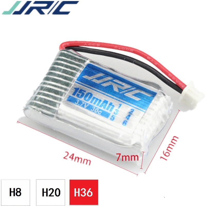 <font><b>3.7v</b></font> <font><b>150mah</b></font> 30C For JJRC E010 E010C E011 E013 JJRC H36 F36 NH010 Battery RC Quadcopter Spare parts <font><b>150mah</b></font> 3.7 v LIPO Battery image