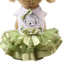 Cute Dog Dress Pet Spring Summer Clothes For Small Wedding Skirt Puppy Clothing Chihuahua Yorkie Dresses XS