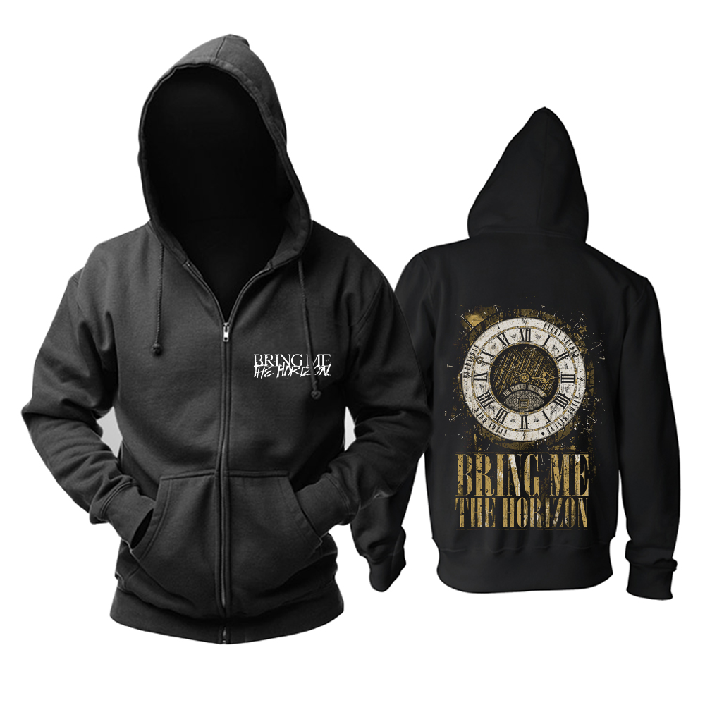 Bloodhoof BRING ME THE HORIZON HARD METAL BMTH  Cotton New BLACK HOODIE Asian Size