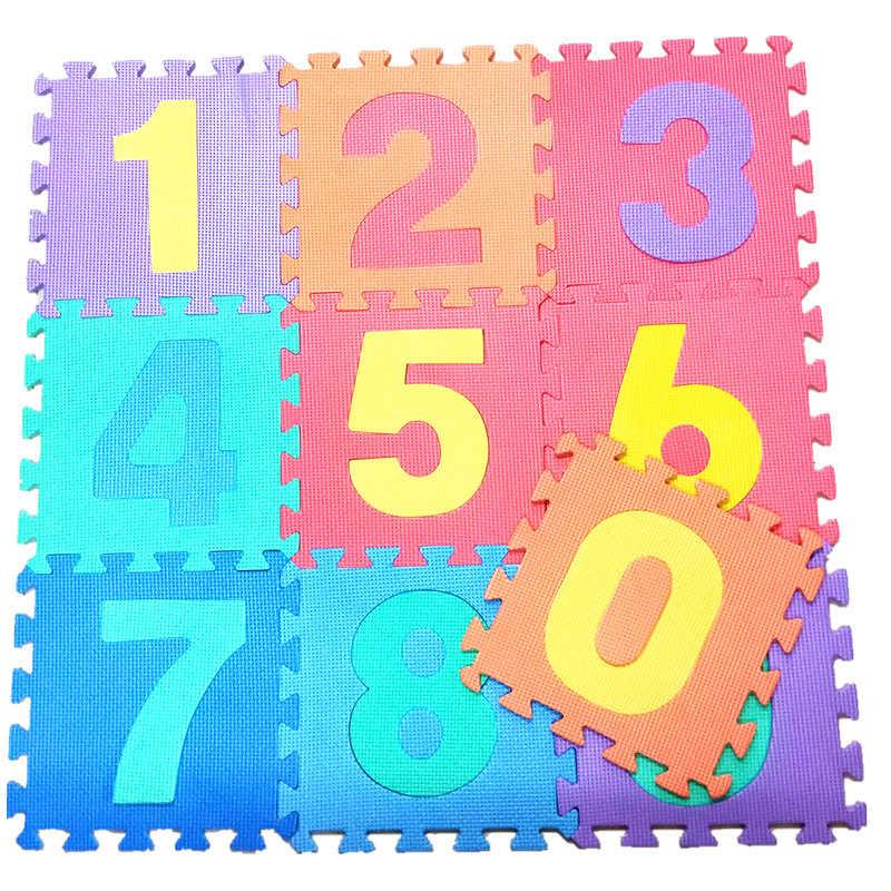 36 ピース/セット子供アルファベット文字数字パズルカラフルな子供敷物プレイマットソフトクロールパズルキッズ教育玩具