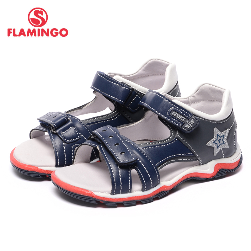 FLAMINGO famous brand 2017 new arrival Spring & Summer kids fashion high quality sandals for boys 71S-XDB-0189