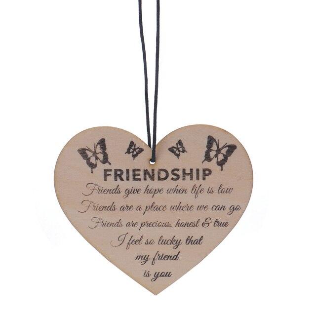 bestp wood message card friendship plaque sign best friend gift