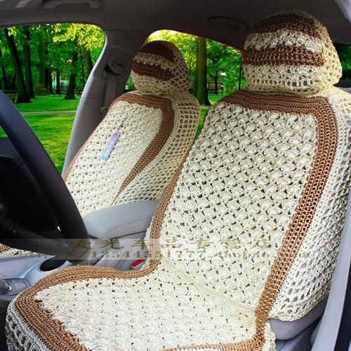 Car seat cushion summer viscose cushion crochet car seat ice silk car seat cushion summer viscose cushion crochet car seat ice silk four seasons mat auto supplies dt1010fo