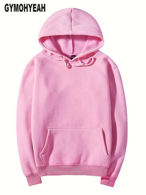 c30534963228 GYMOHYEAH rosa hohe qualität herbst Winter mode männer hoodies baumwolle  verdicken fleece herren pullover trainingsanzug herren