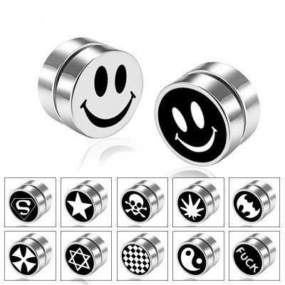 1 Peice Mens Women Stainless Steel Circle Magnetic Clip Earrings Magnet Fake No Piercing Clip On.jpg 640x640 - 1 Peice Mens Women Stainless Steel Circle Magnetic Clip Earrings Magnet Fake No Piercing Clip On Unisex ear Jewelry