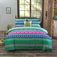 Bohemian Style Bedding set Floral Printed Bed linens Twin Queen King Size 4pcs Duvet Cover Flat Sheet Pillow case Hot sale 2