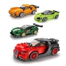 Новые поступления техника город супер гонщики скорость чемпионов суперкар гоночный автомобиль для детей Рождество совместимый подарок Legoings автомобиль