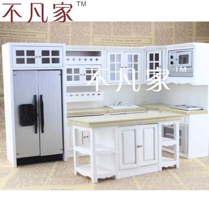Doll house mini furniture dollhouse miniature kitchen set for Accessoire maison design