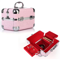 Professional Cosmetic Case Women Wedding Gift Box Beauty Vanity Makeup Travel Train Cases  Aluminium Luxury Make Up Bag Case Box