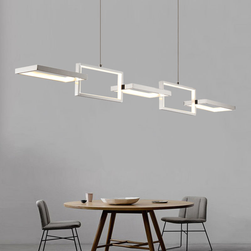 Square Pendant Lights Dining Room Led Light Fixtures Luminaire Hanglampen Bar Lamp Foyer Lights Modern Ceiling Pendant Lamps a1 master bedroom living room lamp crystal pendant lights dining room lamp european style dual use fashion pendant lamps