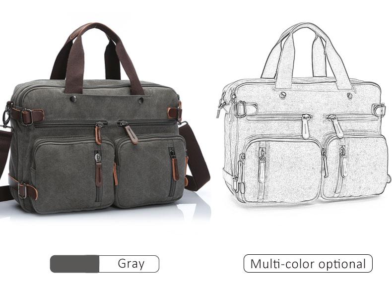 HTB1gVV BZyYBuNkSnfoq6AWgVXaM Scione Men Canvas Bag Leather Briefcase Travel Suitcase Messenger Shoulder Tote Back Handbag Large Casual Business Laptop Pocket