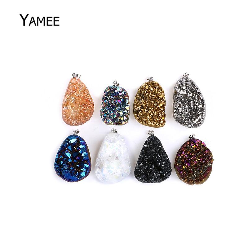 Crushed Diamant cristal rempli paire de bougeoir