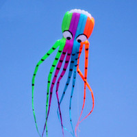 8 m Large Coloreful Octopus Kite New High Quality Software Power Octopus Kite Good Flying Outdoor Sports Fun