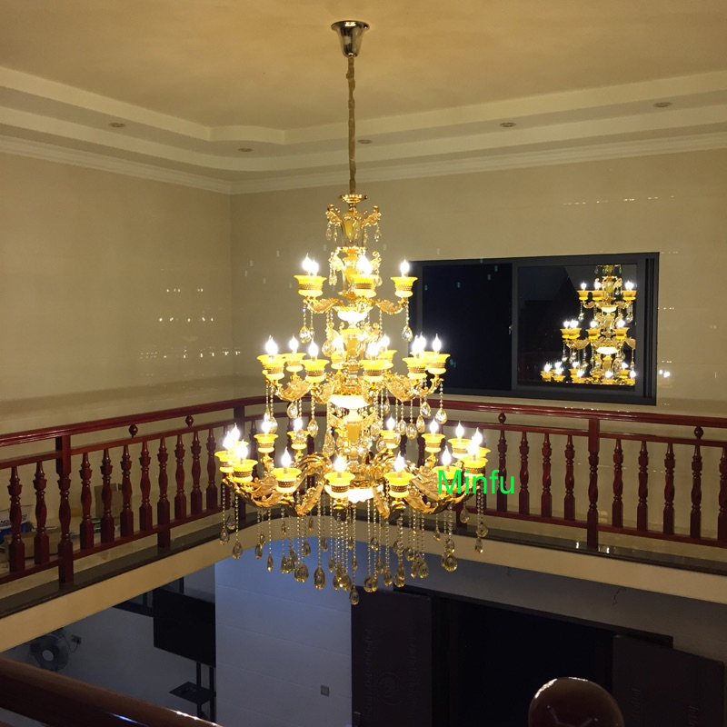 Ordinaire Wrought Iron Chandelier Lighting For Indoor Stairway Lighting Crystal  Diamond Chandelier Long Stair Chandeliers For High Ceiling In Chandeliers  From Lights ...