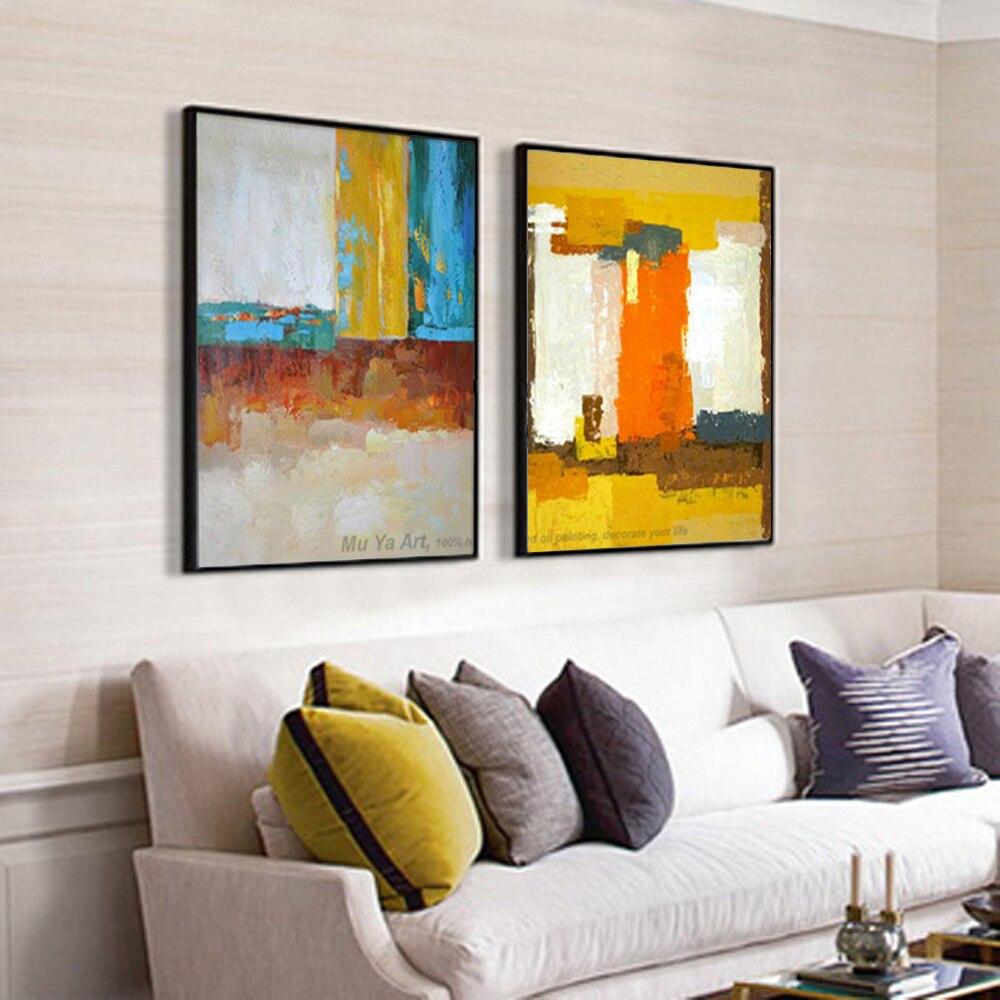 37 71 16 De Reduction Muya Peinture Abstraite Grande Toile Mur Art Tableau Decoration Murale Salon Mur Photos Pour Salon Moderne Peinture A