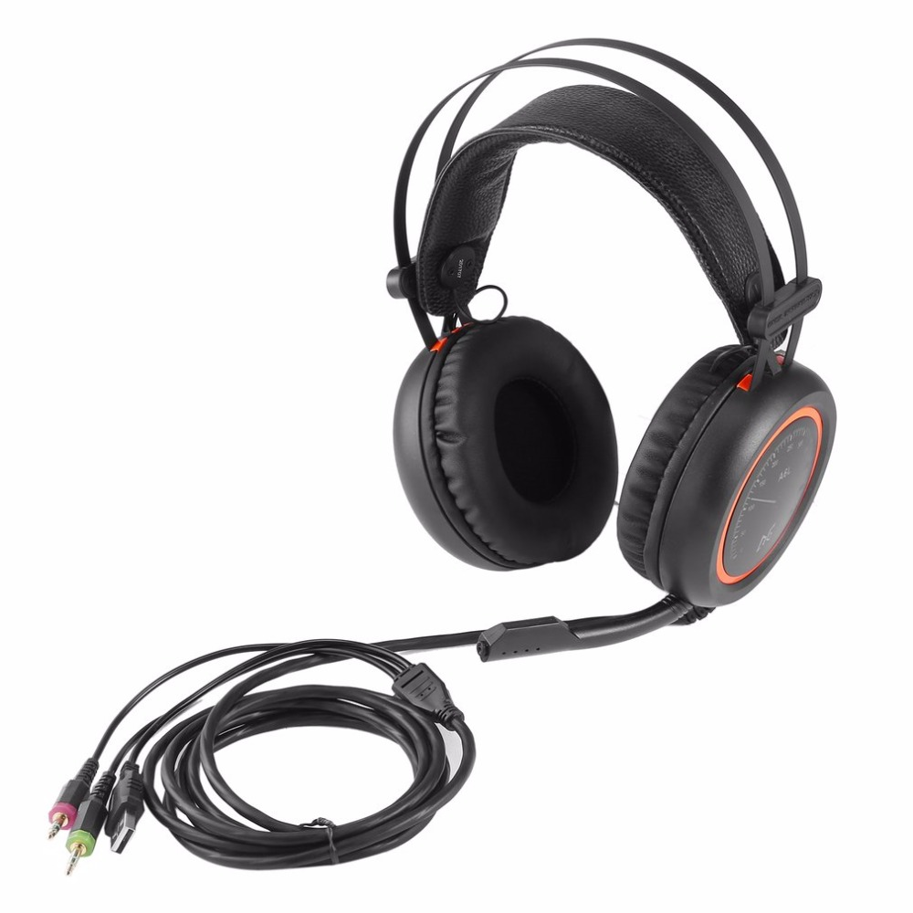 Wired Gaming Headphones A6L USB 7.1 Stereo Surround Sound Over-Ear Game Headset Earphone with Microphone for Computer Gamer hot quality stereo surround gaming headset 3 5mm wired headphone with mic for pc computer gamer over ear nfc