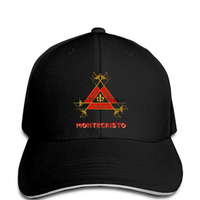 Men Baseball cap Montecristo Habano Cuban Cigars Tobacco Smoke Cigarillos  funny cap novelty cap women e282c927900