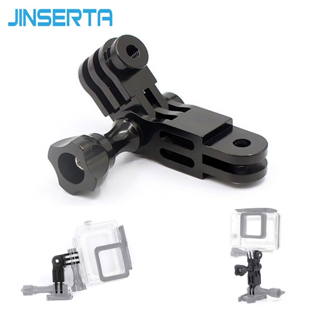 JINSERTA Mount Holder Adapter for Gopro 6/5 4 3+ 2 Sports Camera Mount Holder Grip Extension Arm Tripod for Gopro Hero Xiaoyi