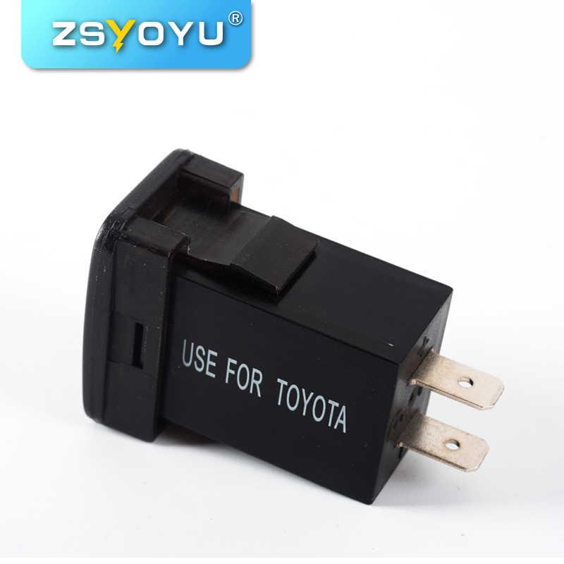 High Cost Effective 12 24v Dual Port Usb Car Charger With Led Light 5v