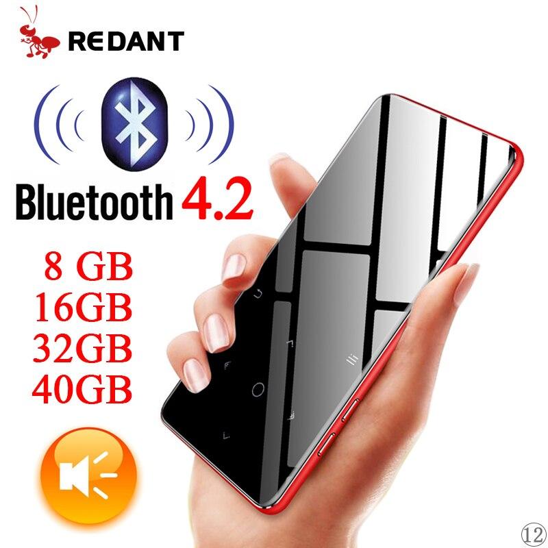 Lecteur MP4 Bluetooth 4.2 avec haut-parleur écouteur E-book FM Radio vidéo MP4 musique HiFi lecteur Slim MP 4 Walkman 8 GB 16 GB 32 GB 40 GB
