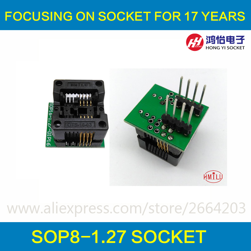 SOP8 SOIC8 SO8 to DIP8 EZ Programer Socket Pitch 1.27mm IC Body Width 3.9mm 150mil IC Test Adapter EZ CH341A CH341 бесплатная доставка diy электронные tps54331drg4 ic reg бак adj 3а 8 soic 54331 tps54331 3 шт