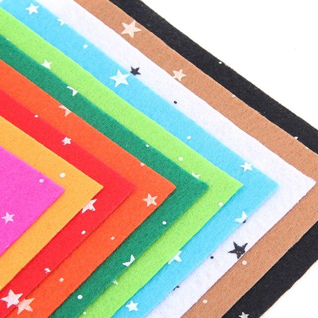Stern Muster Polyester Filz Stoff Mix Farben Stoffe Für Patchwork ...