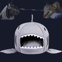 Dog Bed 3 Colors Shark 3 Colored Shark Shaped Kennel Pet House S M Hand Wash