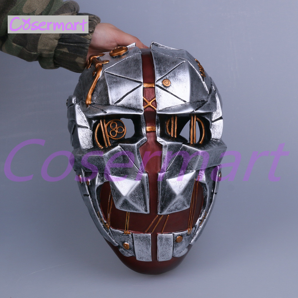 Cos Hot Game Dishonored Helmet Wearable Masks Cosplay Corvo Attano Mask Hard Resin Halloween Party (2)