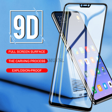 9D Full Cover Tempered Glass for Huawei Y9 2019 Y5 Y6 Prime 2018 Glass on Honor 7A 7C Pro