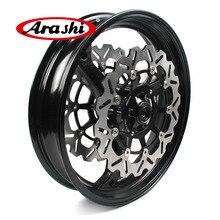 Arashi cbr600rr 2007 2015 aro da roda dianteira discos de freio rotores para honda cbr600 cbr 600 rr 2007 2008 2009 2010 2011 2012 1 conjunto