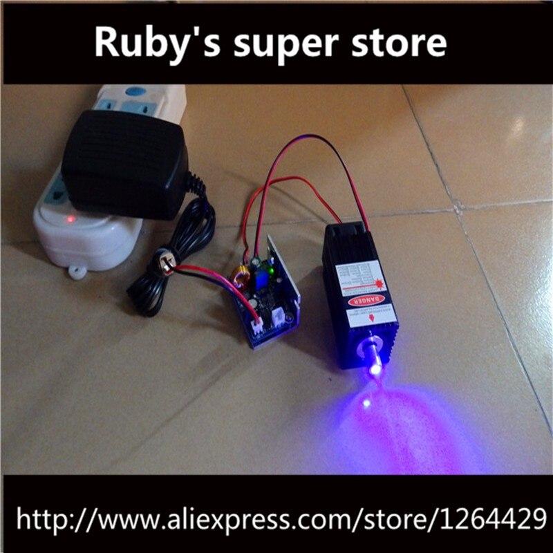 8000 mw Laser Bleu-violet Module Pièces avec Support dissipateur De Chaleur pour Mini Machine de Gravure Laser Haute puissance longueur d'onde 450nm focus