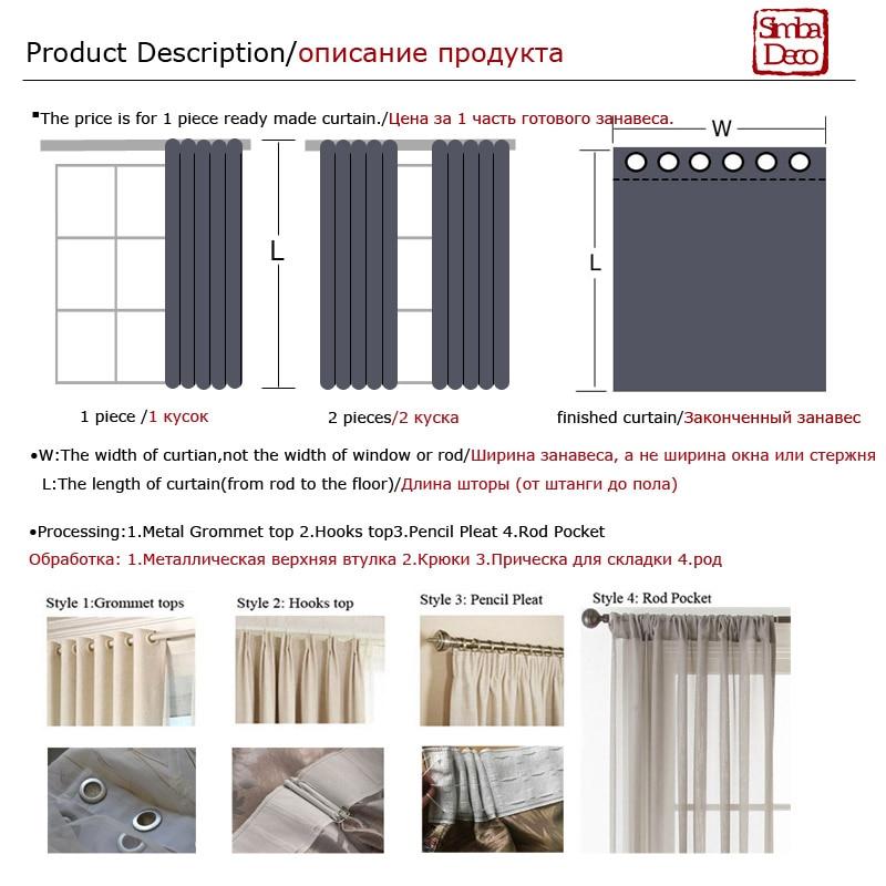 Moderne gestreifte Tüll Vorhänge für Wohnzimmer Weiß Voile Kurze - Haustextilien - Foto 6