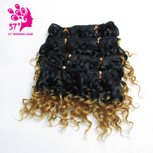 Dream Diana Low Temperature Fiber Synthetic Weave Hair 6inches 100g Ombre Curly 6 Colors 4pcs/lot