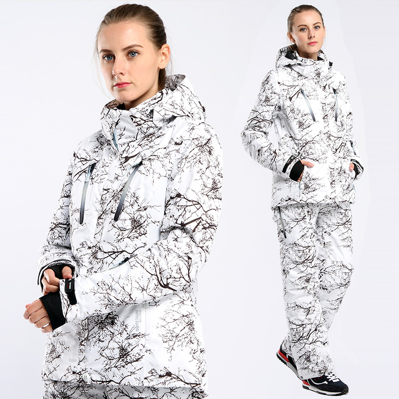 Outdoor Waterproof Windproof Winter Thermal Free Shipping 2019 New Ski Suit Women Set Jacket And Pant Snowboard