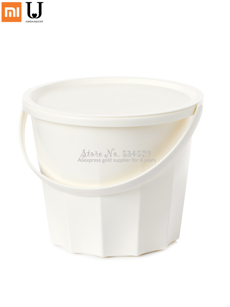 Household Thickened Water Barrel with Handle Cover Portable Plastic Laundry Bucket High Quality Wash Bucket Dotomy 2 Colors|Storage Baskets| |  - title=