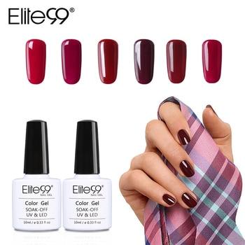 Elite99 10ml Wein Rot Serie Nagel Gel Polish Soak Off Gel Polnisch Gehärtet Mit UV LED Lampe Nagellack nail art Gel Lacke